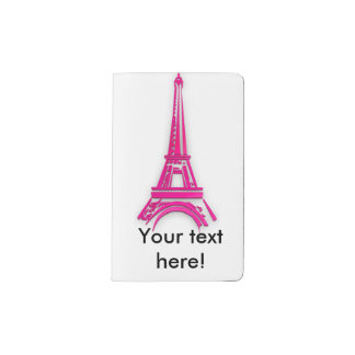 3d Eiffel tower, France clipart Pocket Moleskine Notebook