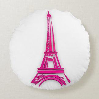 3d Eiffel tower, France clipart Round Pillow