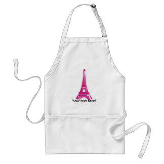 3d Eiffel tower, France clipart Standard Apron
