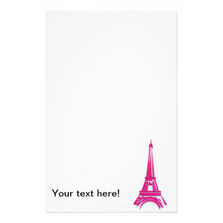 3d Eiffel tower, France clipart Stationery