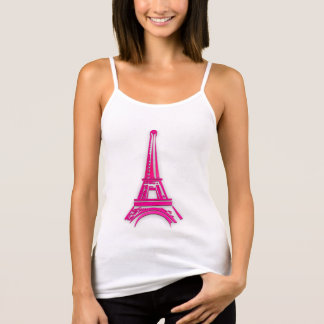 3d Eiffel tower, France clipart Tank Top