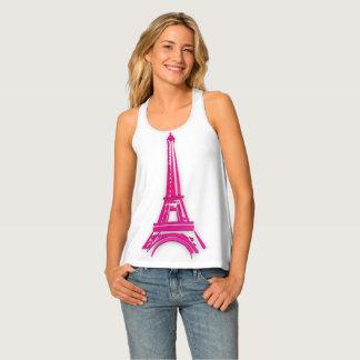 3d Eiffel tower, France clipart Tank Top