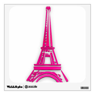 3d Eiffel tower, France clipart Wall Decal
