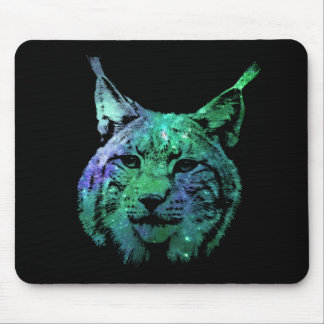 3D fantastical Space Lynx | cosmic Wild Cat Mouse Pad