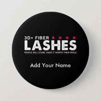 3d Fiber Lashes Personalized Button