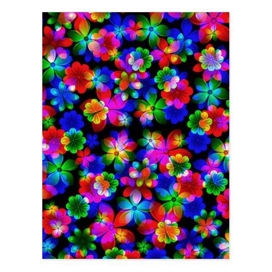 3D Flowers Bouquet by Valxart.com Postcard