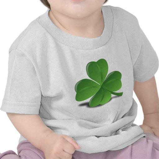 3D Four Leaf Clover T Shirts