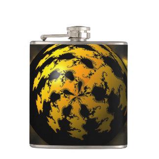3d Fractal Ball Hip Flask
