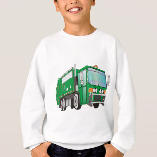 3d Garbage Truck Green Sweatshirt