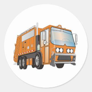 3d Garbage Truck Orange Stickers