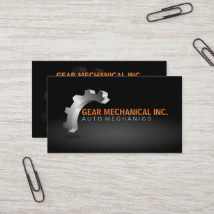 Mechanic business cards profile cards zazzle ca 3d gear mechanical logo style business card colourmoves