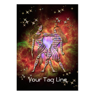 3D Gemini - Zodiac Sign - Astrological Sign Large Business Card