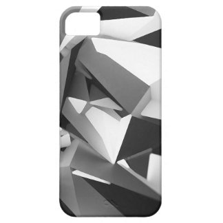 3D Geometry #2 - Black and White iPhone 5 Case