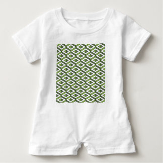 3d geometry greenery and kale baby romper