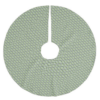 3d geometry greenery and kale brushed polyester tree skirt