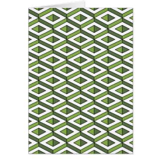 3d geometry greenery and kale card
