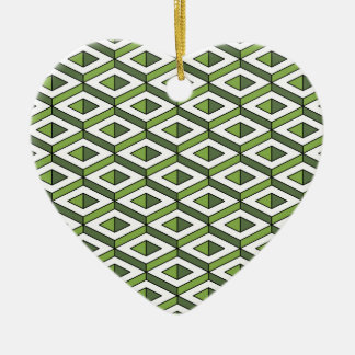 3d geometry greenery and kale ceramic ornament