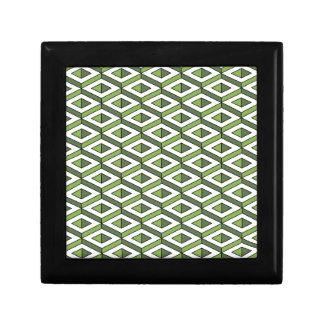 3d geometry greenery and kale gift box
