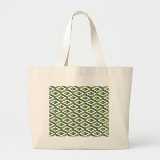 3d geometry greenery and kale large tote bag