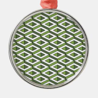 3d geometry greenery and kale metal ornament