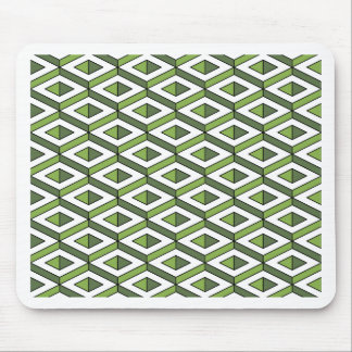 3d geometry greenery and kale mouse pad