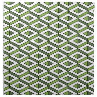 3d geometry greenery and kale napkin