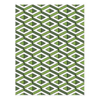 3d geometry greenery and kale postcard