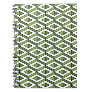 3d geometry greenery and kale spiral notebook