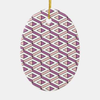 3d geometry rose quartz ceramic ornament