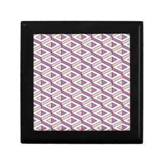 3d geometry rose quartz gift box