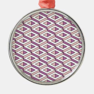 3d geometry rose quartz metal ornament
