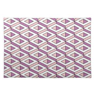 3d geometry rose quartz placemat