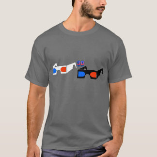 3D Glasses (destroyed gray T) T-Shirt