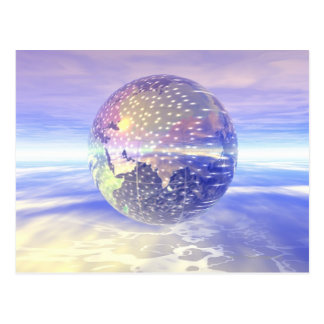 3D Globe 13 Postcard