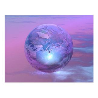 3D Globe 18 Postcard
