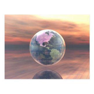 3D Globe 5 Postcard