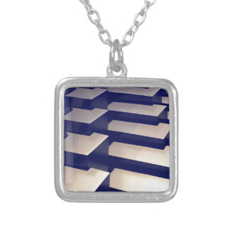 3D Gold Bars Silver Plated Necklace