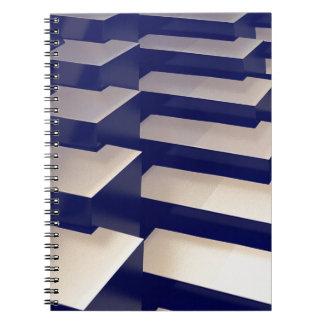 3D Gold Bars Spiral Notebook
