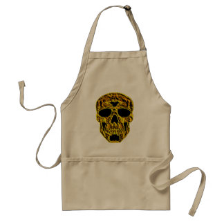 3D Gold Skull Standard Apron