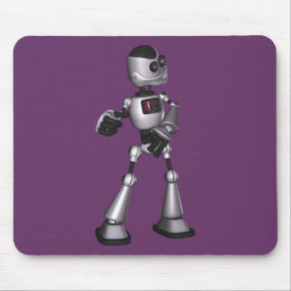 ♪♫♪ 3D Halftone Sci-Fi Robot Guy Dancing Mouse Pad