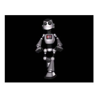 3D Halftone Sci-Fi Robot Guy Postcard