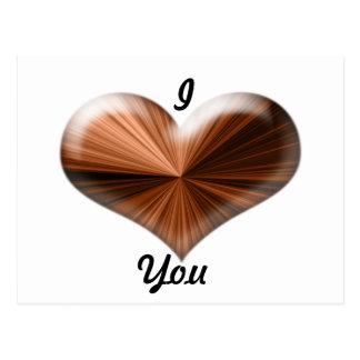 3D Heart Design Postcard