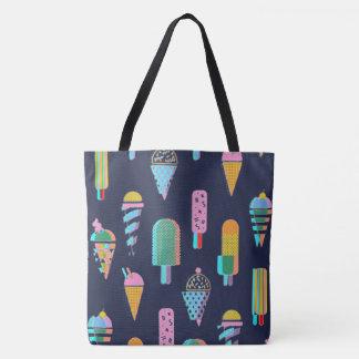 3D Ice Cream Pop Tote Bag
