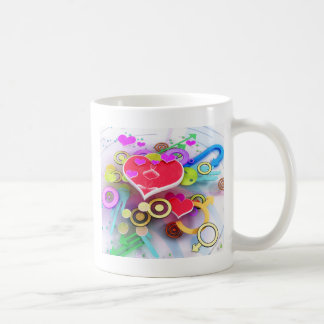 3d Love Heart Coffee Mug
