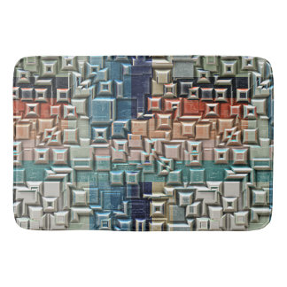 3D Metallic Structure Bath Mat