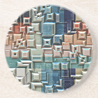 3D Metallic Structure Coaster