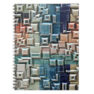 3D Metallic Structure Notebook