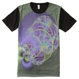 3D Modern Abstract Fractal All-Over-Print T-Shirt
