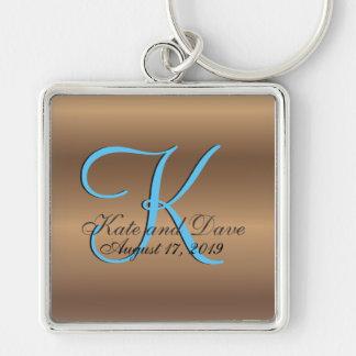 3d Monogram Bronze Keychain