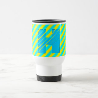 3D Monogram Festival Colors Travel Mug